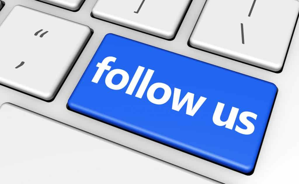 Follow us button for blog post